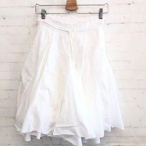 Zara Woman White Cotton Skirt